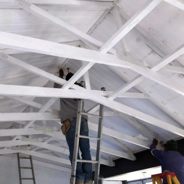 ISO Pine Exposed Truss on Patio | Thermaboards